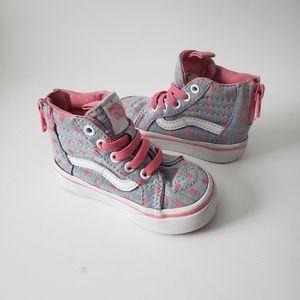 Vans Hi-8 Heart Toddler Shoes size 4.0